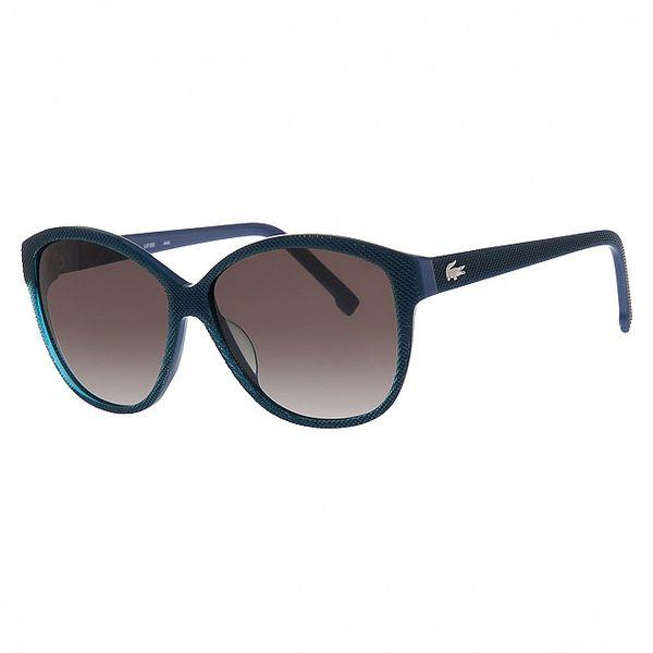 Dámské ocelově modré sluneční brýle Lacoste