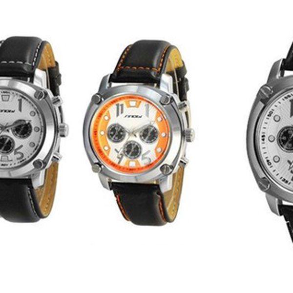 Luxusní pánské hodinky SINOBI LUXURY ELEGANCE v elegantním designu s krásným koženým řemínkem a antialergenní a odolné nerezové oceli pro pohodlné nošení!