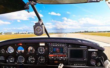 90minutový let letadlem! Podívejte se na krásy Čech z výšky, nebo si vyzkoušejte i pilotování!