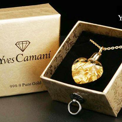 Exkluzívnym príveskom v tvare srdca vyjadríte lásku i bez slov. Dámsky náhrdelník Yves Camani s pravým 24 karátovým zlatom len za 38 € po 73% zľave.