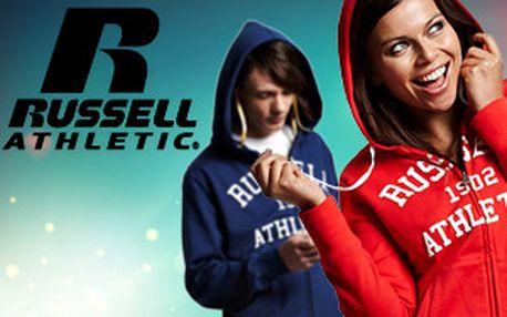 Dámské a pánské oblečení Russell Athletic – mikiny, trička a tepláky z kolekce 2012, na 1 poštovné až 3 kusy zboží