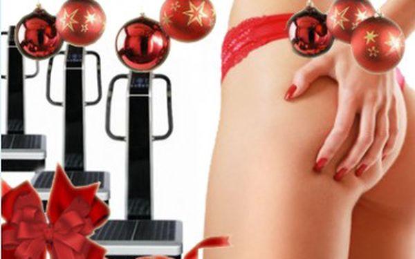 10 x 30 minut na vibrační plošině za 300Kč. 100% účinné hubnutí po Vánocích bez námahy.