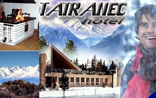 Slovenská republika - Zimní dovolená v hotelu Tatranec ve Vysokých Tatrách. Pobyt pro 2 osoby s polopenzí, sleva na skipas, káva a zákusek. To celé se slevou až 56%!!!