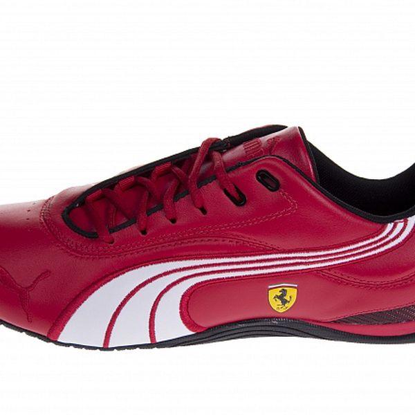 Pánské červené tenisky Puma Ferrari s černými a bílými detaily
