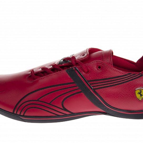 Pánské červené tenisky Puma Ferrari s černými detaily