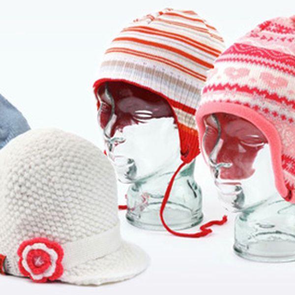 Zimní dětské pletené čepice včetně poštovného