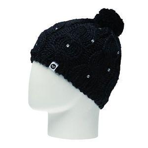 Roxy Černá zimní čepice s kamínky Shooting Star Black WPWBE174-BLK