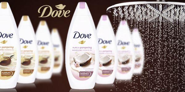 Čtyři velké voňavé sprchové gely Dove