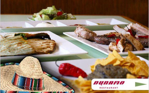 Nasaďte sombrero! Mexické masové menu pro dva v restauraci Dynamo.