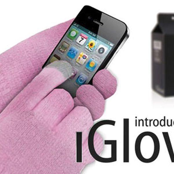Zimní rukavice iGlove na dotykový mobil – umožní vám volat, psát sms nebo hrát hry, osobní odběr v Praze nebo PPL za 80 Kč