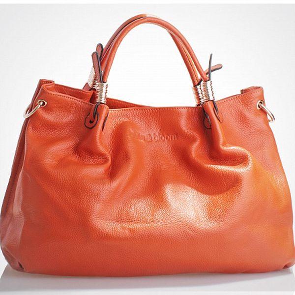 Dámská oranžová kabelka Belle & Bloom se zlatými detaily
