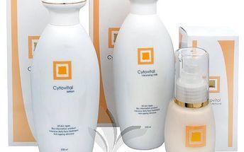 Bauty Energy balíček plný krásy 2+1 zdarma. Obsahuje čistící pleťovou vodu, mléko a sérum proti vráskám