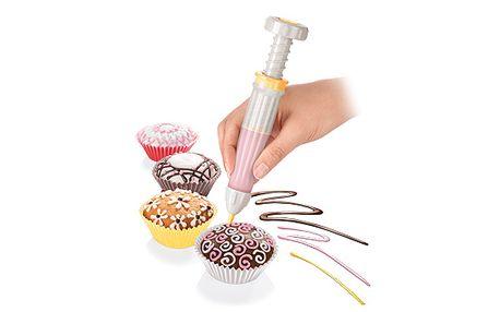 Cukrářská zdobicí tužka DELÍCIA. Pro dekorování pokrmů lahodnými krémy a čokoládou.