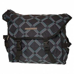 Černá károvaná taška přes rameno Sherpa