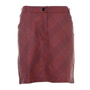 Dámská tmavě červená károvaná sukně Rejoice