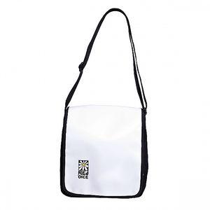 Černobílá taška s klopou Rejoice