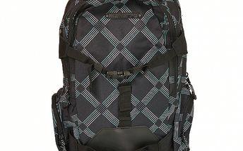 Černý károvaný batoh Sherpa