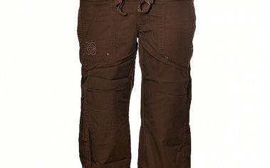 Dámské tmavě hnědé 3/4 kalhoty Sherpa s pasem do gumy