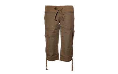 Dámské šedohnědé 3/4 kalhoty Sherpa s pasem do gumy