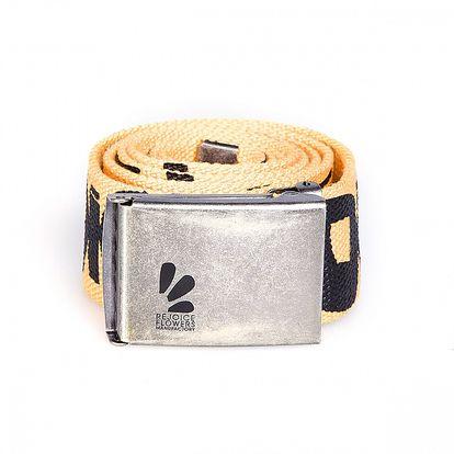 Žlutý pásek Rejoice s kovovou sponou a nápisem