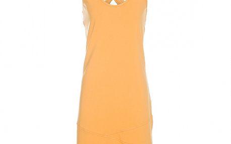 Dámské meruňkové tílkové šaty Rejoice s překříženými ramínky