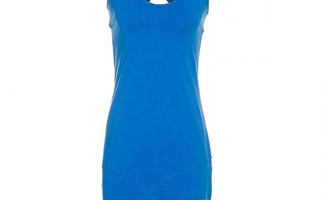 Dámské azurově modré tílkové šaty Rejoice s překříženými ramínky