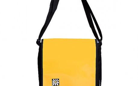 Žlutočerná taška s klopou Rejoice