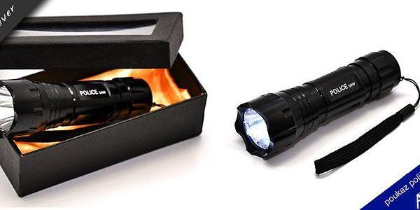 LED přenosná baterka - POLICE - policejní svítilna! Může se pyšnit 5 vlastnostmi, které Vás přesvědčí! Víckrát nezabloudíte v temných uličkách a zákoutích! Sleva 61%!!!