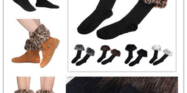 Ozdobné ponožky kryjící vrchní část obuvi PRODLOUŽENO!