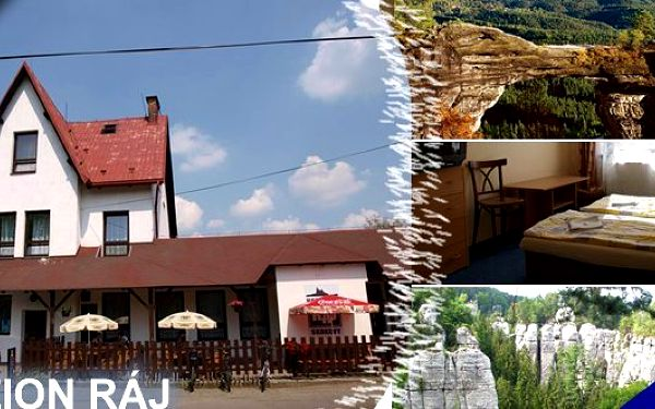 Český Ráj - 3 dny v krásné krajině v penzionu Rájs polopenzí, kávou nebo čajem na zahřátí a domácím moučníkem ZDARMA za bomba cenu se slevou 30%!!! Bizarní skalní města, kouzelná krajina plná rozmanitosti a překrásné výhledy.
