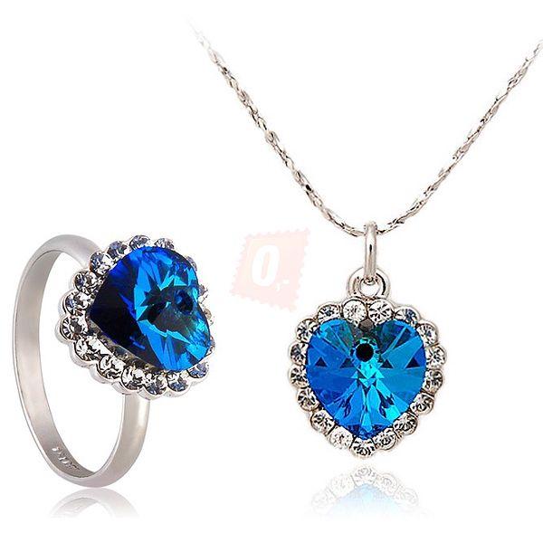 Elegantní set - náhrdelník a prsten s motivem srdce a poštovné ZDARMA!
