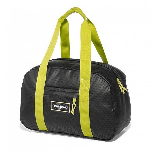 Dámská černá sportovní taška Eastpak s limetkovými uchy