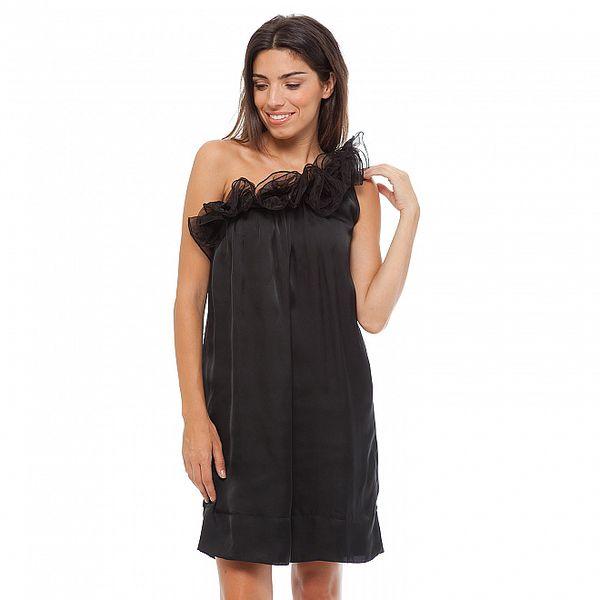 Dámské černé koktejlové šaty Strena