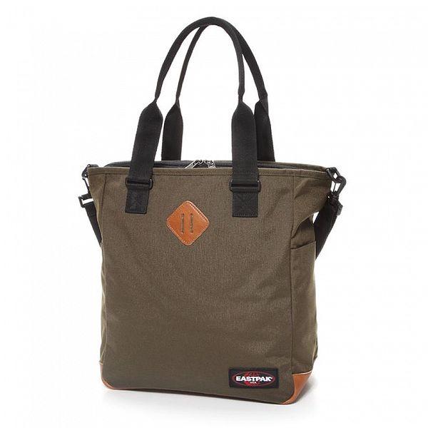 Dámská khaki taška Eastpak s koženými detaily
