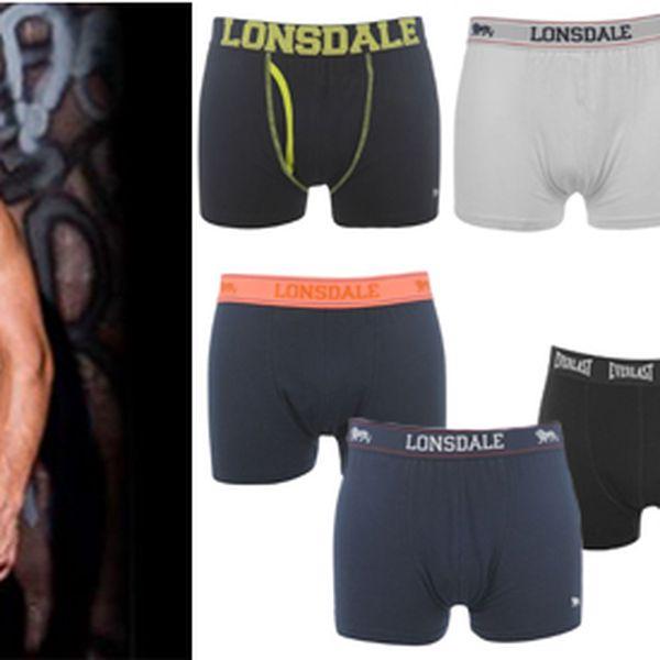 2x pánské boxerky 95% bavlna velmi kvalitní provedení od značky LONSDALE