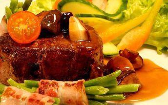 2x steak z argentinské svíčkové! Pochutnejte si na šťavnatém masíčku s přílohou dle výběru!