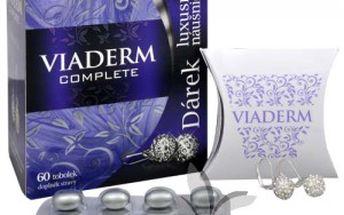 Blahodárný kosmetický přípravek Walmark Viaderm Complete 60 tob. Působí na vaši krásu uvnitř organismu.