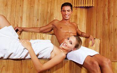 VIP vstup do saunového světa! Neomezený vstup PRO DVA! Finská sauna, bylinná lázeň, sekt a víc!