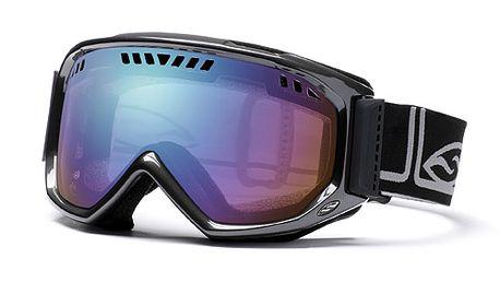 Černé lyžařské brýle Smith Optics s duhovými skly
