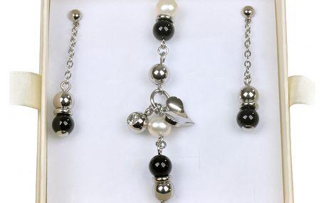 Originální souprava šperků Tribal s naúšnicemi a náramkem. Vhodný dárek pro každou ženu.
