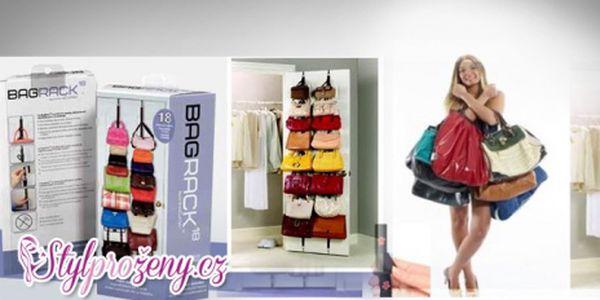 Elegantní a praktický závěsný organizér na kabelky za super cenu 279 Kč! Uspořádejte si kabelky přehledně na dveřích Vašeho šatníku se skvělou slevou 44%!