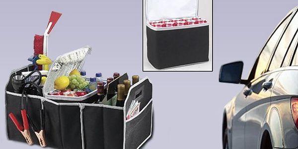 Organizér do auta se 3 boxy a termotaškou pro ukládání nákupů, výbavy auta a map.