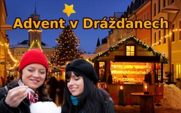 Vánoční Drážďany! ADVENTNÍ ZÁJEZD vč. autobusové dopravy, průvodce, cest. pojištění a občerstvení jen za 358 Kč!