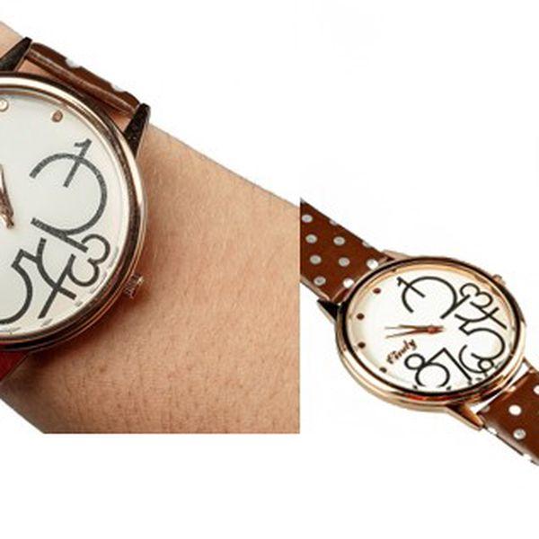 Luxusné hodinky LINDY s tygrovaným opaskom v dvoch farebných prevedeniach (biela, hnedá) v modernej dizajne!