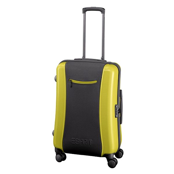 Šedozelený kufr Esprit střední