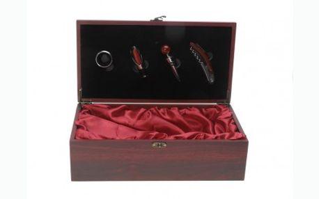 339 Kč za dárkovou sadu s prostorem na láhev vína, která je originálním dárkem pro každého milovníka vína! Sleva 37%.