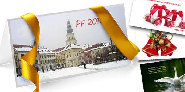 36 PF přání podle vlastních fotografií – plnobarevné karty 90×200 mm s ořezem