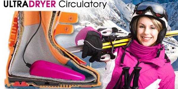 249 Kč za praktický vysoušeč bot ULTRADRYER Circulatory. Použitelný pro všechny druhy obuvi i lyžáky. Suché boty snadno, rychle a pohodlně. HyperSleva 72 %.