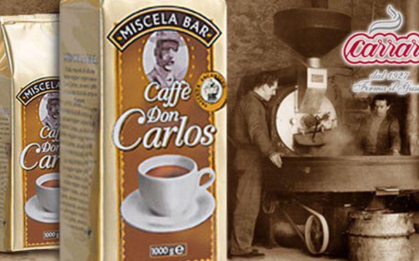 Vychutnejte si výbornou italskou kávu Caffé Don Carlos Miscela bar! 1 kg této báječné zrnkové kávy za pouhých 199 Kč díky HyperSlevě 50 % potěší všechny milovníky kávy!