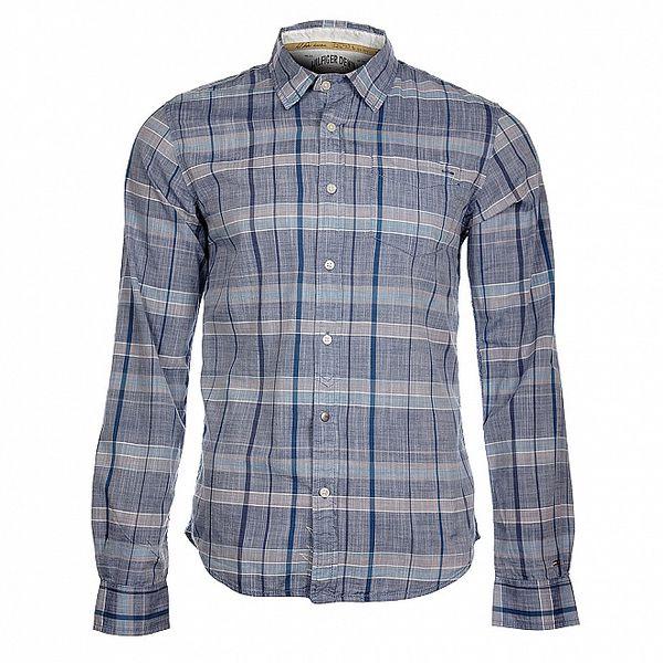 Pánská světle modrá kostkovaná košile Tommy Hilfiger